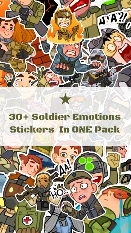 Soldier Emotions Stickers Pack for iMessage