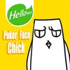 Hellowe Stickers: Poker Face Chick