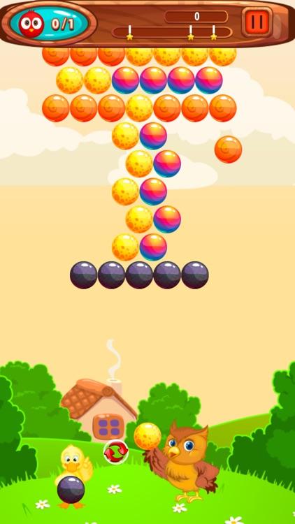 Birds Pop Bubble Shooter - New Ball Color Puzzle