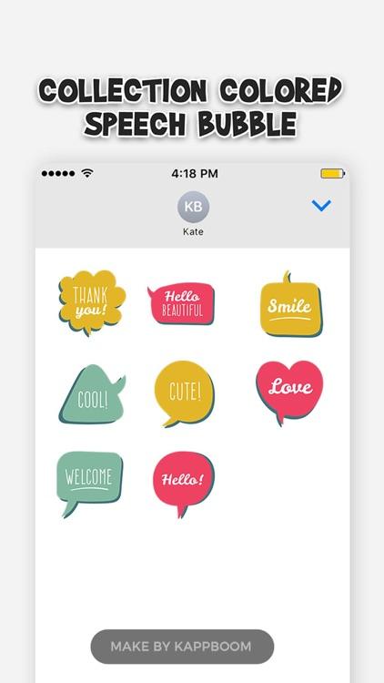 Collection Comic Colored Speech Bubble screenshot-4