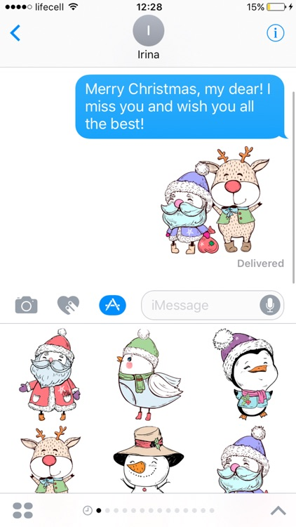 Christmas adorable stickers for iMessage merry screenshot-3