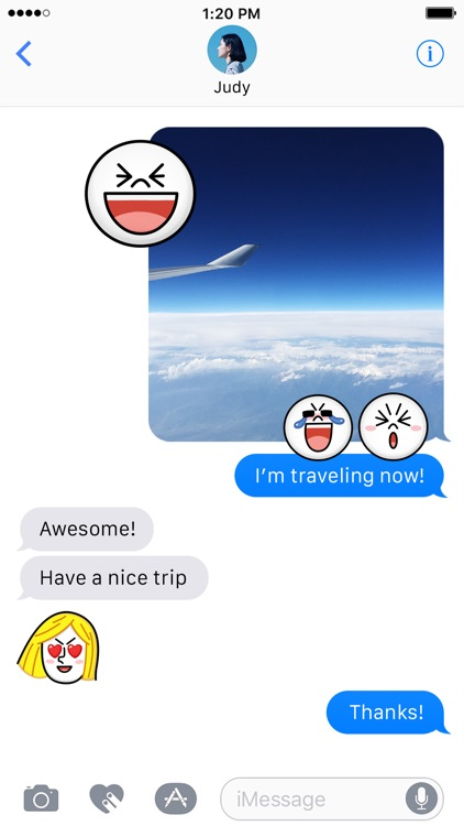JAMES & MOON Emoji Stickers - LINE FRIENDS