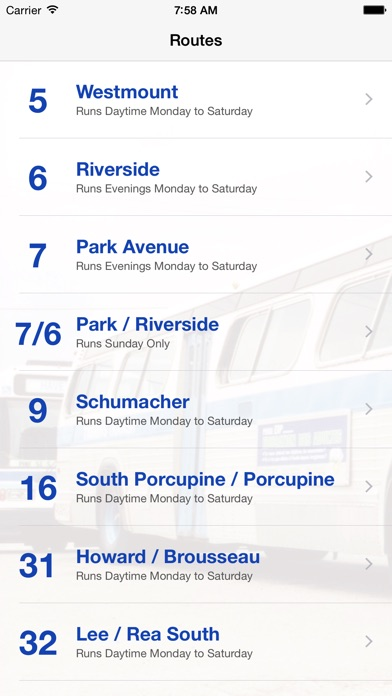 Timmins Transit screenshot