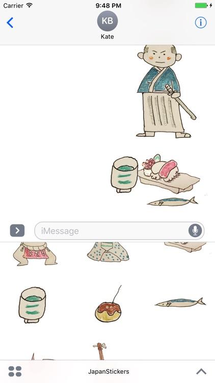 Japan Stickers - Simple illustration screenshot-3