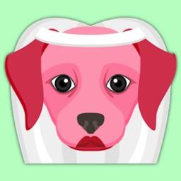 Valentine's Day Labrador Retriever Stickers