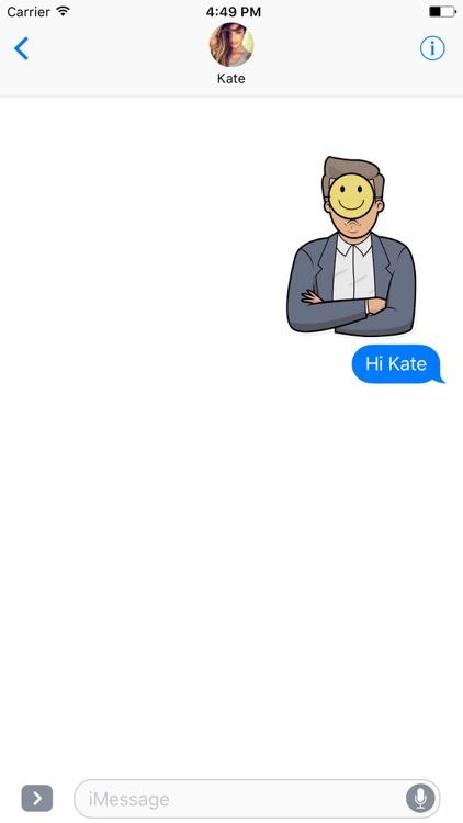 Emoji Man Stickers