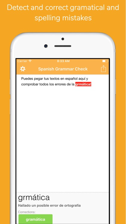 Corrígeme Pro - Spanish Spelling and Grammar check