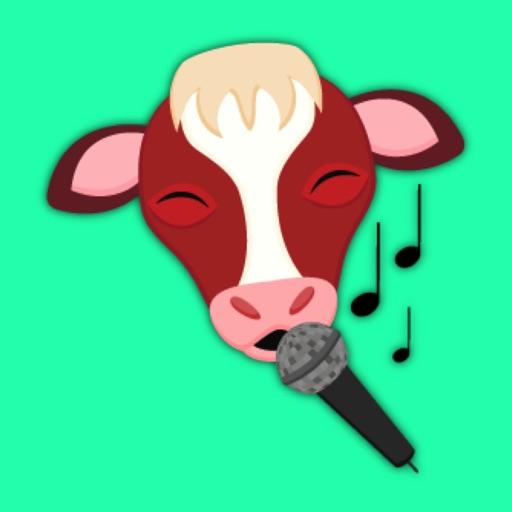 Red White Cow Emoji Stickers