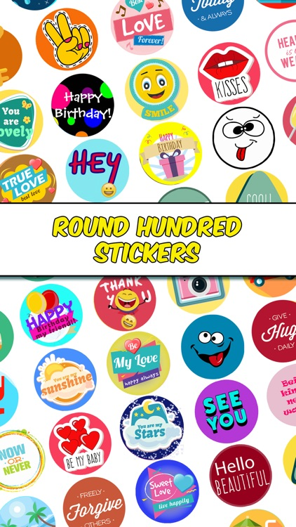 Round Hundred Stickers screenshot-0