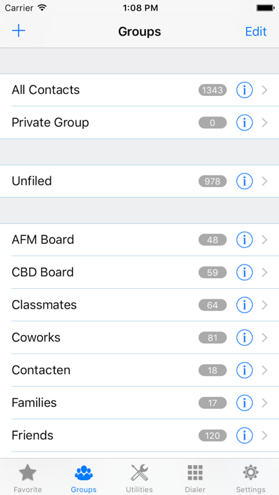 ZXContacts - Smart Contacts & Groups Manager screenshot two