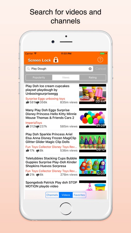Screen Lock - Video player with lock for kids