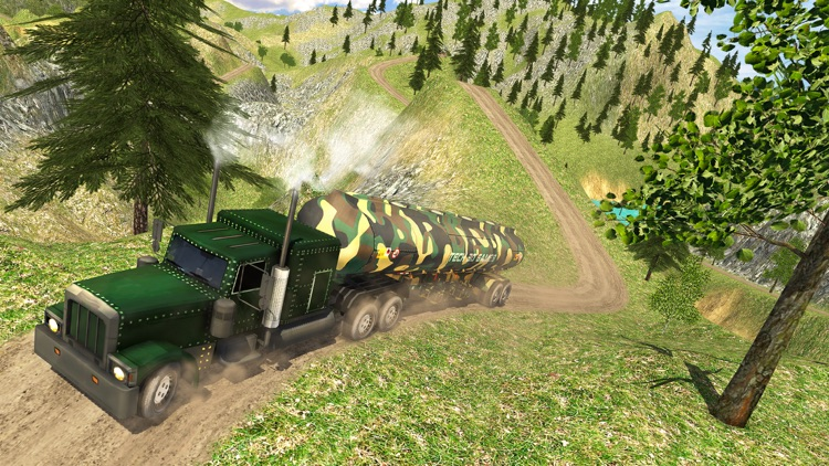 Uphill Offroad Army Oil Tanker Transporter Truck screenshot-4