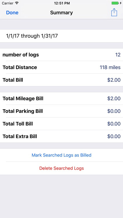 Milog - mileage log tracker screenshot-2