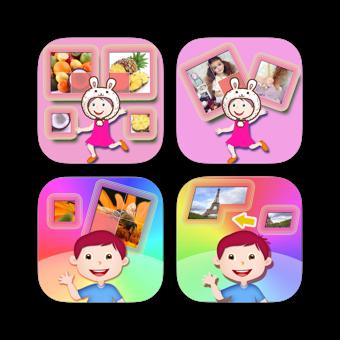 有趣的兒童幼兒認知拼圖遊戲合集 - 多合一
