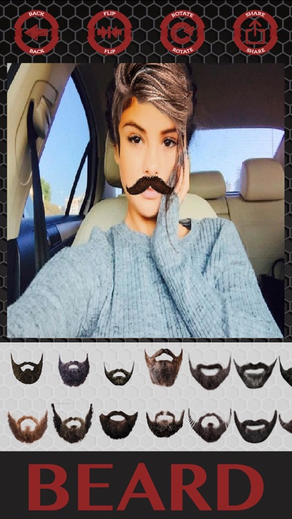 Beard and hair stickers mustaches photo editor screenshot-4
