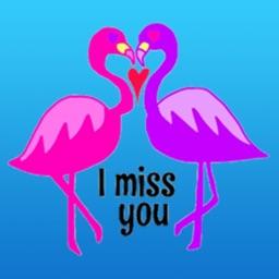 Lovely Pink Flamingo Sticker