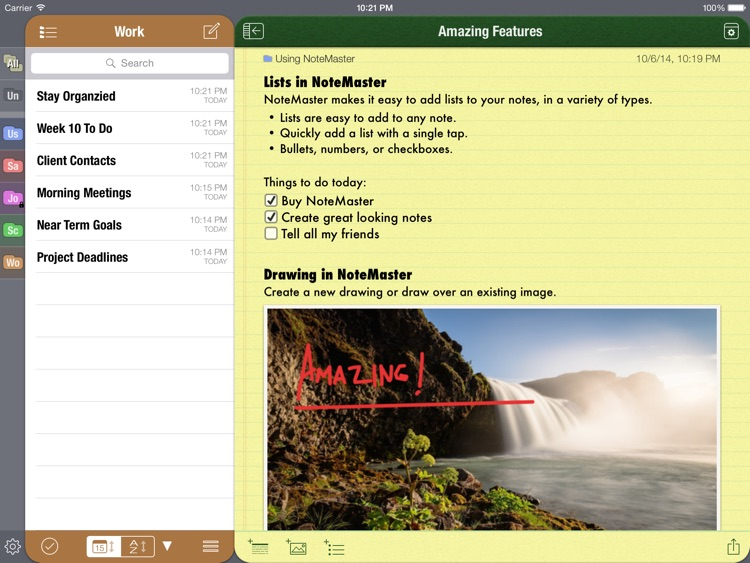 NoteMaster Lite for iPad - amazing notes