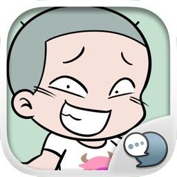 HuaKrien Cute Boy Stickers for iMessage