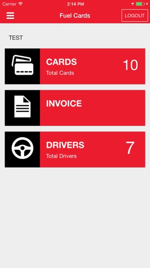 iphone screenshots - Universal Premium Fleet Card