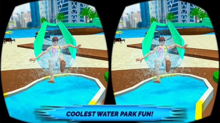 VR Beach Water Sliding - Water stunt & ride screenshot-4