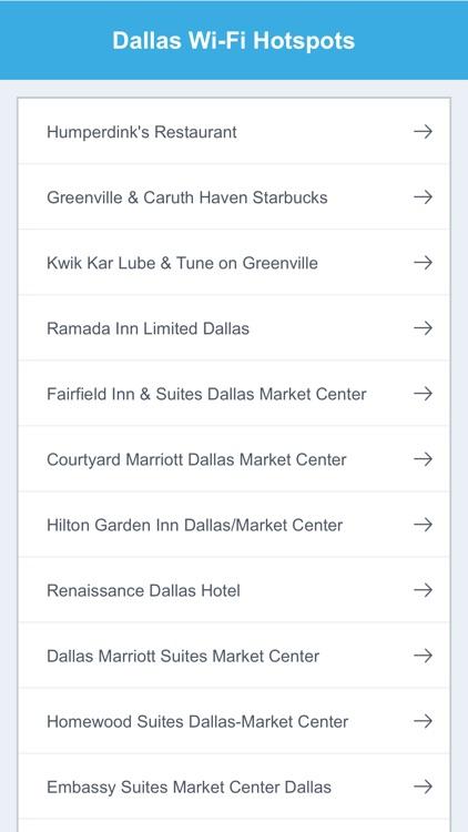 Dallas City Wifi Hotspots