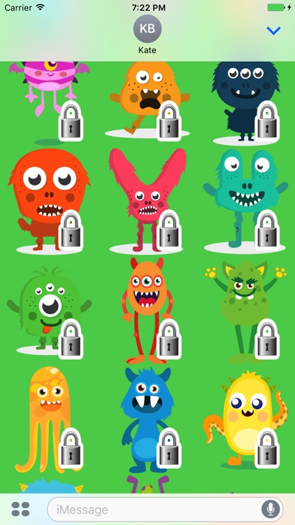Monsters Sticker Pack screenshot-3