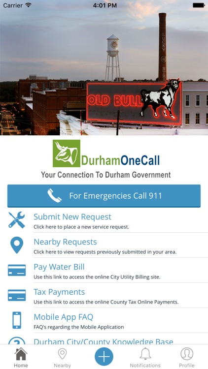 Durham One Call By Publicstuff