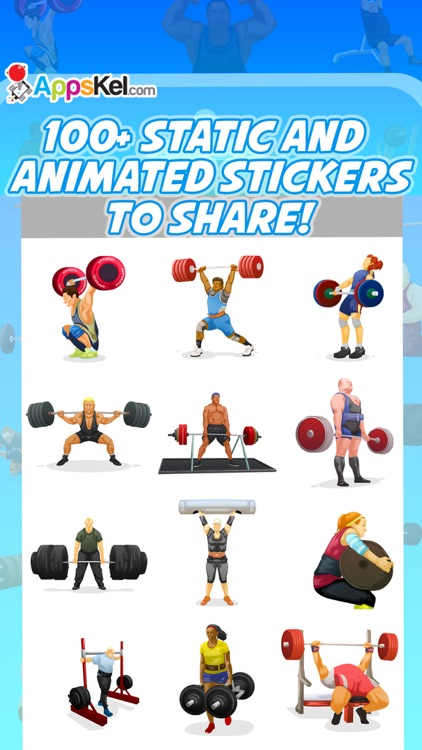 PowerMoji: Weight-Lifting Emoji & Stickers App screenshot-0