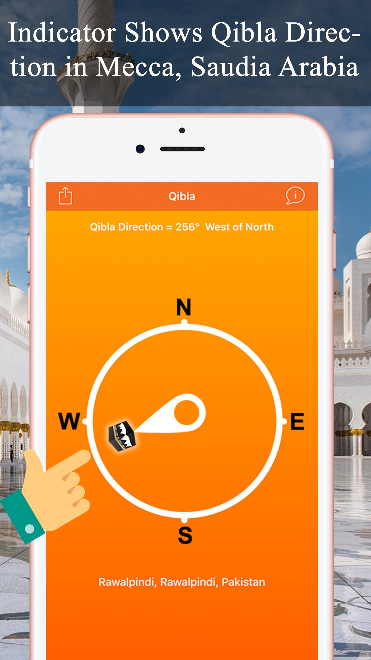 Qibla Compas - Locator, Finder Screenshot