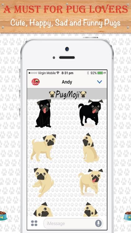 PugMoji - Pug Lovers Emojis and Stickers! screenshot-3