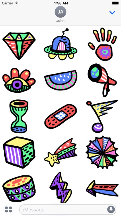 Galaxy - Space Objects Doodle Stickers