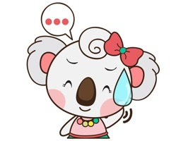 Qumi the cute koala for iMessage Sticker
