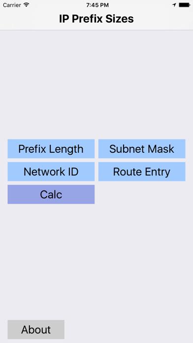 IP Prefix Sizes screenshot one