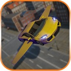 Futuristic Flying Car 3D icon