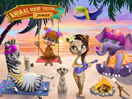 Jungle Animal Hair Salon 2 - No Ads на iPad