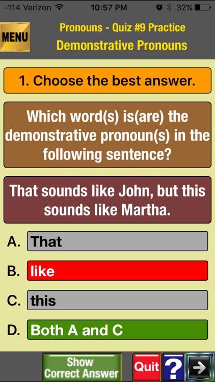 easyLearn Parts of Speech in English Grammar screenshot-3