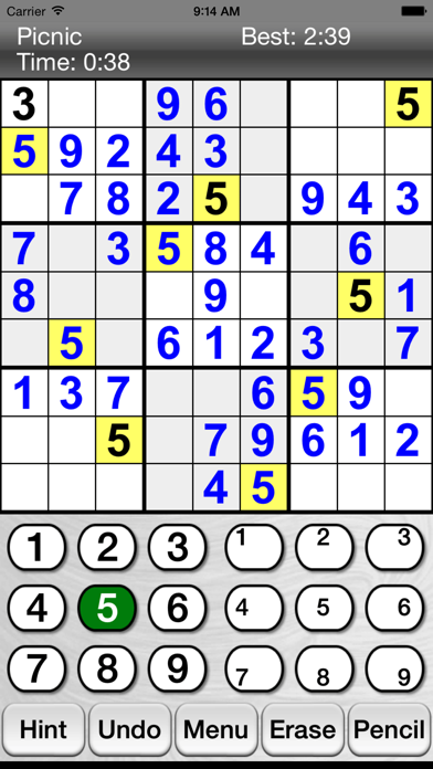 :) Sudoku screenshot one