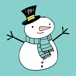 Hand Drawn Holiday Christmas Winter 2 Sticker Pack