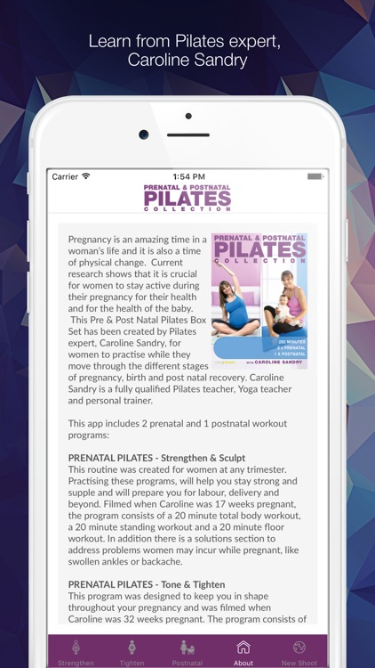 The Pregnancy Pilates Videos with Caroline Sandry screenshot-4