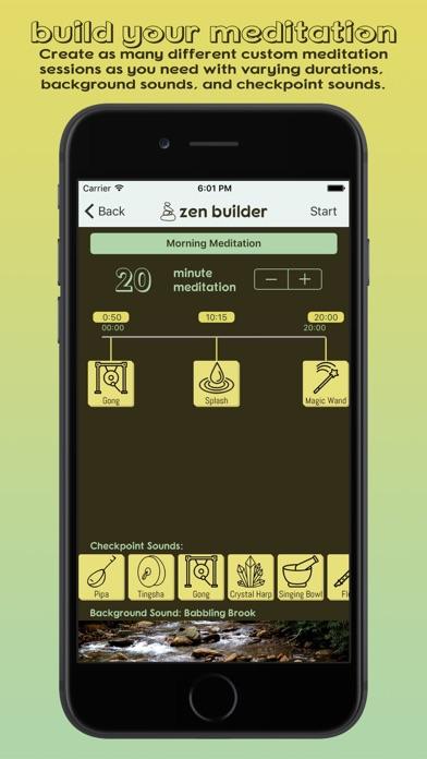 Zen Builder - Meditation & Relaxation Timer screenshot one