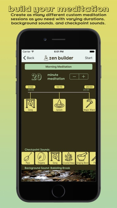 Zen Builder - Meditation & Relaxation Timer screenshot one