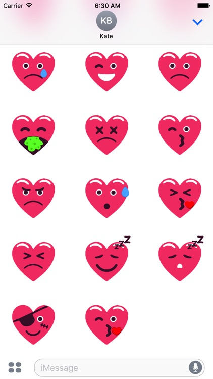 Heart Pink Love Emojis Stickers for iMessage screenshot-4