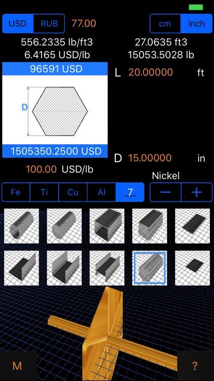 Metal Weight & Cost Calculator screenshot-3