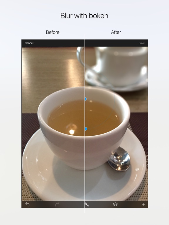 Drop - photorealistic depth of field with bokeh Screenshot