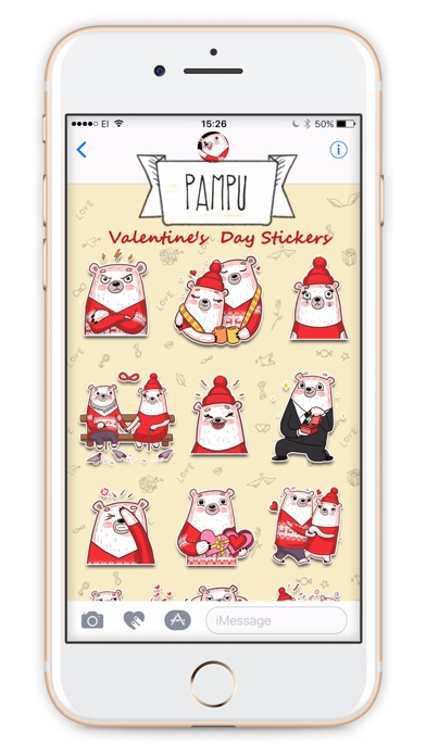 Valentine's Day with Pampu stickersのスクリーンショット4