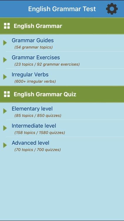 English Grammar Test by Vu Truong Thanh