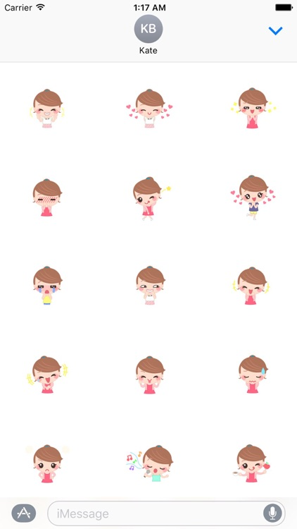 Sweet And Cute Girl Stickers