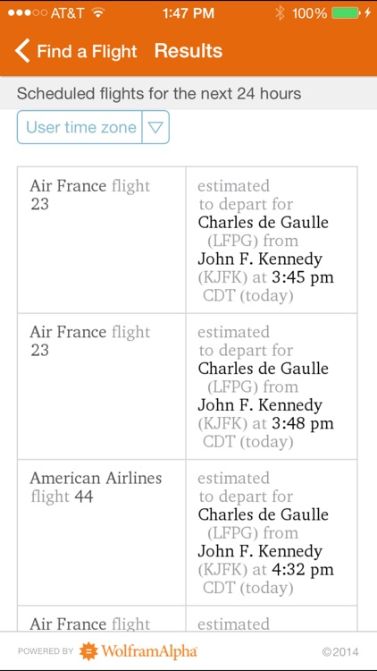 Wolfram Flight Information Reference App screenshot-1