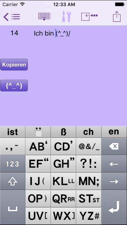 AEI Keyboard Note German