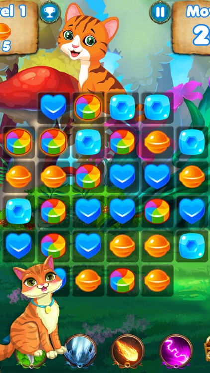 Kitty Crush - puzzle games with cats and candy screenshot-4